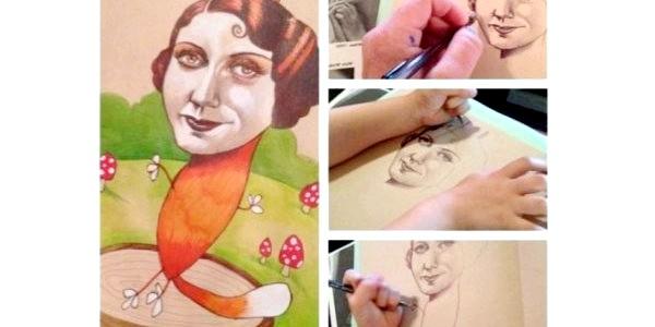 4-річна дівчинка робить мамині картини унікальними