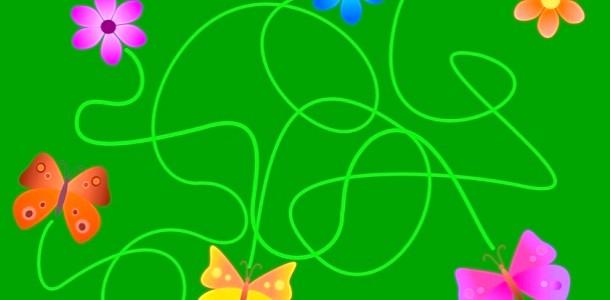 Метелики і квіточки. Розвиваючий лабіринт