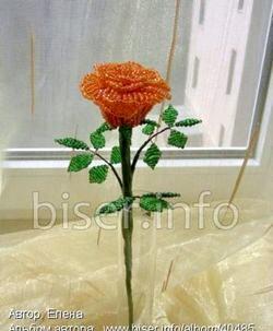 Бісероплетіння троянди. Схеми та майстер-клас