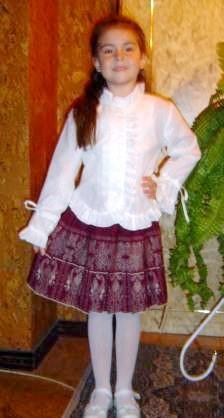 Блузи для дівчаток дошкільного віку