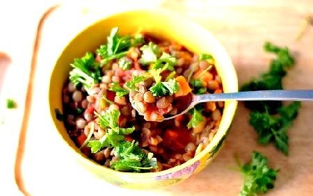 Сочевиця рецепти, Сочевиця з овочами