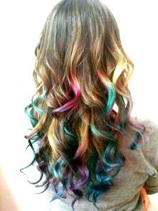 Кольорові кінчики волосся