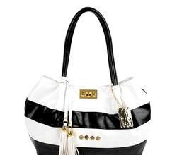 Дамська сумочка з шкіри в смужку