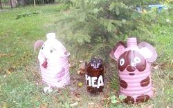 Дитячі вироби з пластикових пляшок фото
