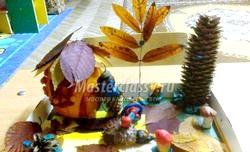Дитячі вироби з природного матеріалу. Майстер клас з покроковий фото фото
