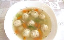 Дитячий суп з фрикадельками фото