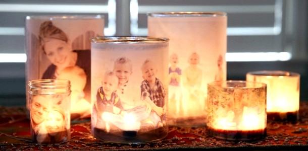 DIY: робимо свічник із сімейним фото