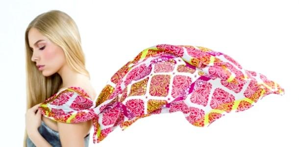DIY: дизайнерський хустку для мами (відео) фото