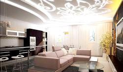 Дизайн стель у вітальні фото