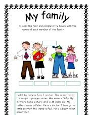 English topic - My family