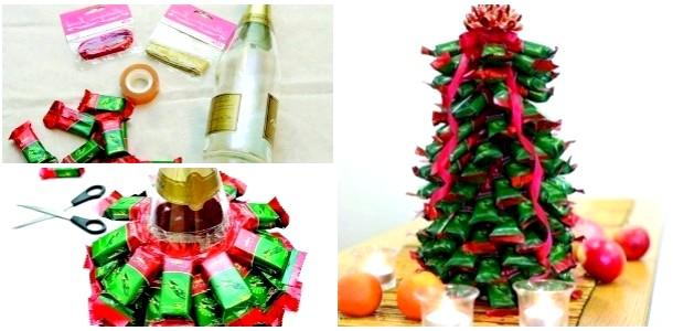 Є ідея! Як зробити ялинку з цукерок (ФОТО)