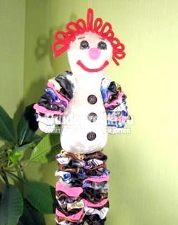 Іграшка своїми руками з клаптіків тканини. Добрий Клоун. Майстер-клас з покроковий фото фото