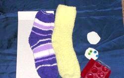 Іграшки своїми руками. Мишка з махрового носка. Майстер-клас з покроковий фото