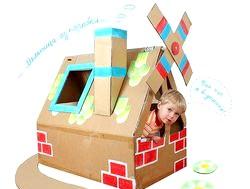 Як зробити будиночок з коробки. Фото та Ідеї фото