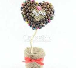 Кавове дерево «Серце» на день Святого Валентина. Майстер клас з покроковим фото фото