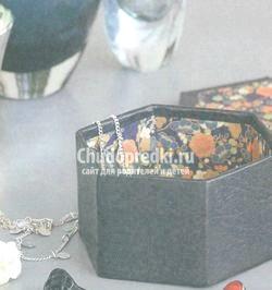 Коробочка зі шкіри в стилі «орігамі» фото