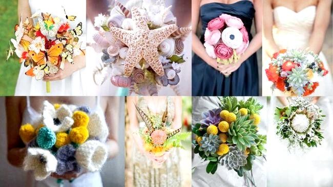 Креативні весільні букетики для наречених