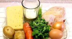 Курячий суп з сирними галушками. Рецепт з покроковими фото