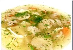 Легкий суп з курки