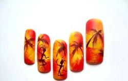 Літній дизайн нігтів. «Гарячі танці». Майстер клас з покроковими фото