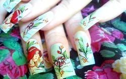 Манікюр будинку. Розпис на нігтях «Романтична особа». Майстер клас з фото
