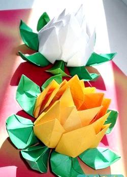 Модульні орігамі. Квітка лотоса. Майстер клас з покроковий фото