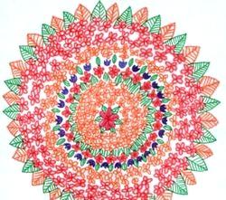 Нетрадиційні техніки малювання кольоровими олівцями, фломастерами.