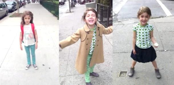 Неймовірне відео тата: дорога дочки в школу