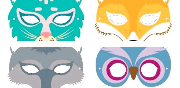 Новорічні дитячі маски: роздрукуй і устрій маскарад