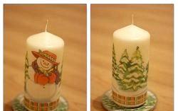 Новорічний декупаж свічки. Майстер-клас з покроковими фото