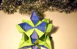Орігамі. Традиційна кусудама «Ірис». Майстер клас з покроковий фото фото