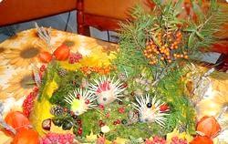 Осіння композиція з овочів фото