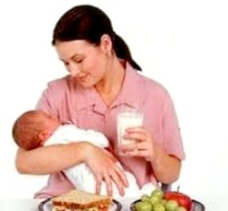 Раціон харчування годуючих матерів