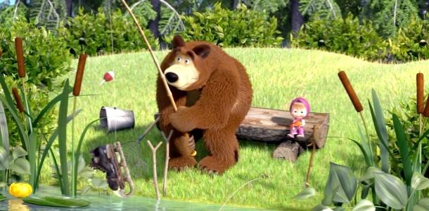 Розмальовки для дітей: Маша і Ведмідь