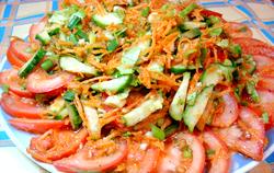 Рецепт овочевого салату фото