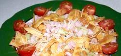 Салат з омлетом фото