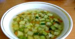 Суп з кабачків фото