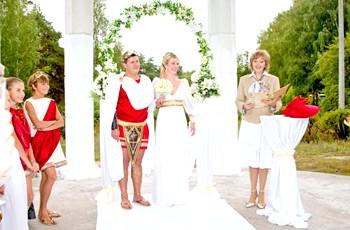 Весілля в античному стилі