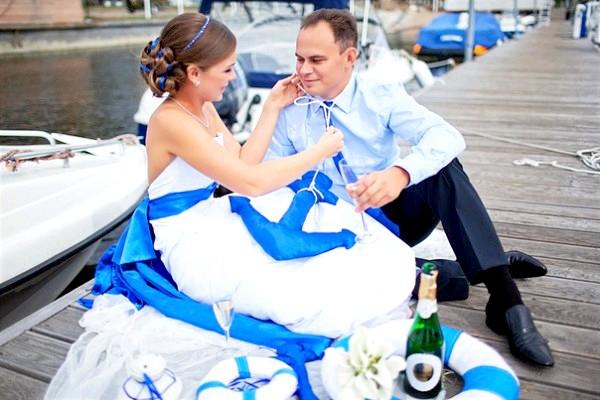 Весілля в морському стилі