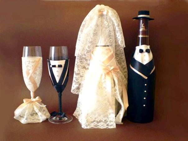 Весільні келихи для шампанського