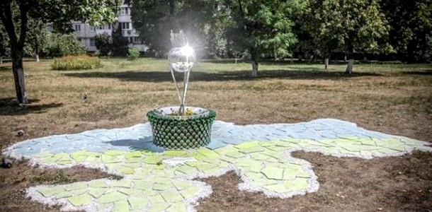 У Києві з'явилася світна карта України (ФОТО) фото