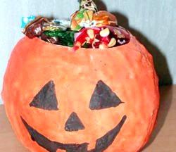 Ваза - цукерниця «Хеллоуїн». Майстер клас з покроковим фото фото