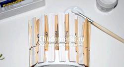Вазочка з прищіпок «Клумба». Майстер - клас з покроковими фото фото