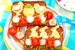 Веселі дитячі бутерброди фото