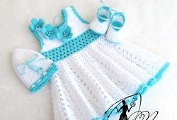 В'язання гачком для дітей сукні фото