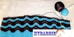 Вязание. Плед для малюка