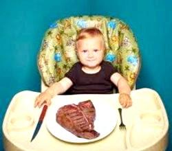 Вводимо м'ясо в раціон дитини фото