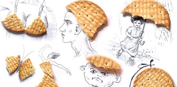 Забавні малюнки з печива, фантиків і попкорну (ФОТО) фото