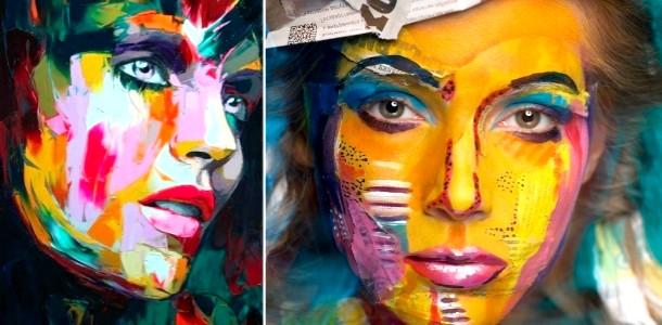 Жіноче обличчя як полотно: неймовірні картини (ФОТО)