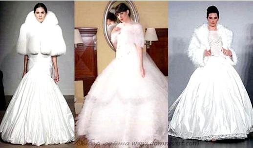 Зимове весільну сукню